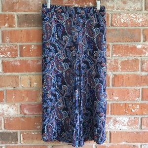 Cato Skirts - Paisley Lightweight Split Skirt By Cato XL